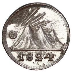 Guatemala (Central American Republic), 1/4 real, 1824, PCGS MS63.