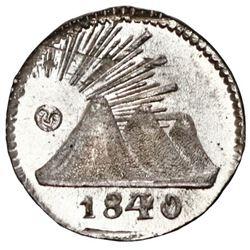 Guatemala (Central American Republic), 1/4 real, 1840/30, PCGS MS66.