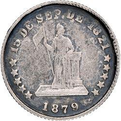 Honduras, 5 centavos, 1879, Lovett type, very rare, NGC VF 35.