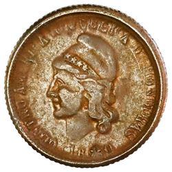 Honduras, bronze 1 centavo, 1880, rare, PCGS XF45 BN, finest in PCGS and NGC censuses.