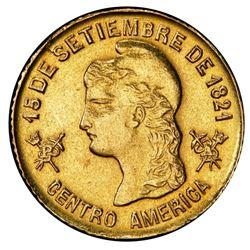 Honduras, gold 1 peso, 1888, PCGS AU detail / mount removed.