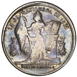 Honduras, 50 centavos, 1896/86, with P on pedestal, rare, NGC VF 20, finest and only example in NGC