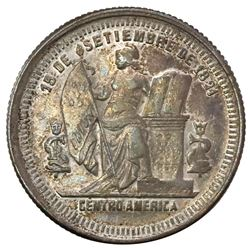 Honduras, 25 centavos, 1883, PCGS AU50, finest known in PCGS census.