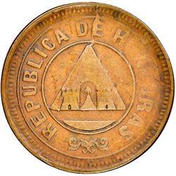 Honduras, bronze 1 centavo, (1895) mule, rare, NGC VF 35 BN.