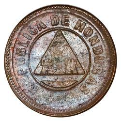 """Honduras, bronze 1 centavo, 1896, denomination 1, NGC MS 64 BN (""""top pop""""), ex-O'Brien."""