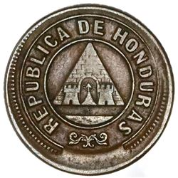 Honduras, bronze 1 centavo, 1899, small 99, NGC AU 53 BN, finest and only example in NGC census, ex-
