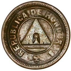 Honduras, bronze 1 centavo, 1904, plain edge, NGC VF 35 BN, ex-O'Brien.