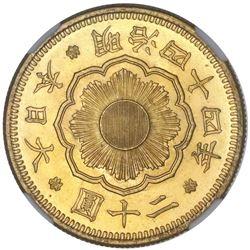 Japan, gold 20 yen, emperor Mutsuhito (1852-1912), Meiji year 44 (1911), NGC MS 64+.