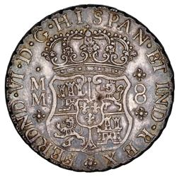 Mexico City, Mexico, pillar 8 reales, Ferdinand VI, 1760MM, ex-Potomac.