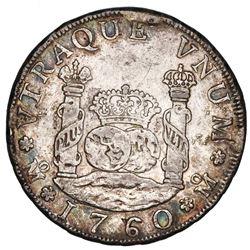 Mexico City, Mexico, pillar 4 reales, Ferdinand VI, 1760MM.
