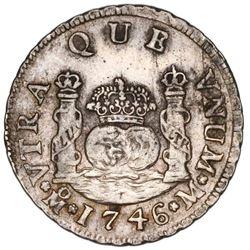 Mexico City, Mexico, pillar 2 reales, Philip V, 1746M, ex-Potomac.