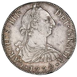 Mexico City, Mexico, bust 8 reales, Charles III, 1779FF, ex-Jones.