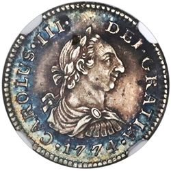 Mexico City, Mexico, bust 1/2 real, Charles III, 1774FM, NGC AU 55.