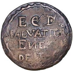 Salvatierra (Guanajuato), Mexico, bronze hacienda token (1/8 real?), 1805, rare.