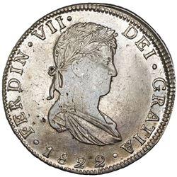 Guanajuato, Mexico, bust 8 reales, Ferdinand VII, 1822JM, NGC XF 45, ex-Jones.