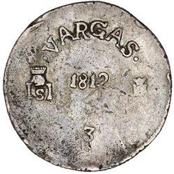 Sombrerete de Vargas, Mexico, 8 reales, Ferdinand VII, 1812, rare, PCGS XF45.