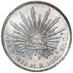 San Luis Potosi, Mexico, cap-and-rays 8 reales, 1888MR, NGC MS 64.