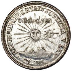 Campo Morado, Guerrero, Mexico, 2 pesos, 1915-CoMo, NGC MS 61, ex-Jones.