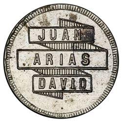 David (Chiriqui Province), Panama, copper-nickel token, 5 centavos, Juan Arias, (ca. 1890).