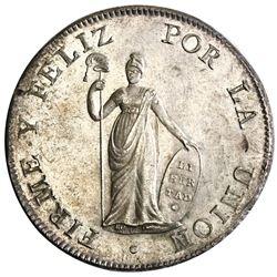 Lima, Peru, 8 reales, 1825JM.