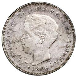 Puerto Rico (under Spain), 40 centavos, Alfonso XIII, 1896PG-V.
