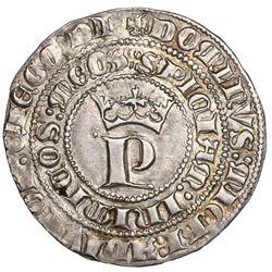 "Seville, Spain (Castile and Leon), 1 real, Pedro I (""the Cruel,"" 1350-69), ex-Jones (Plate Coin)."