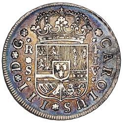 Seville, Spain, milled 4 reales, Charles III, 1761JV, ex-Jones.