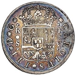 Seville, Spain, milled 4 reales, Charles III, 1761JV, ex-Jones.