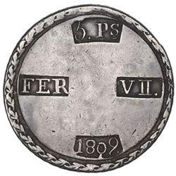 Tarragona, Spain, 5 pesetas, Ferdinand VII, 1809.