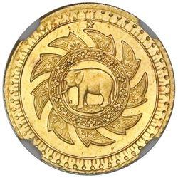 Bangkok, Thailand, gold 2-1/2 baht (pat dueng), king Rama V (1894), rare, NGC MS 64+.