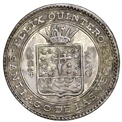 Santiago de la Vegas, Cuba, small silver proclamation medal, Isabel II, 1834.