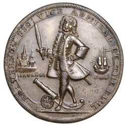 Great Britain, copper-alloy Admiral Vernon medal, 1739, Porto Bello / Havana, ex-Jones.