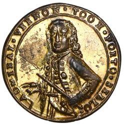 Great Britain, small-size copper-alloy Admiral Vernon medal, 1739, Porto Bello, Vernon alone, ex-Ada