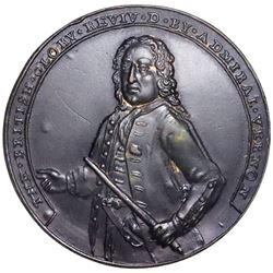 Great Britain, copper-alloy Admiral Vernon medal, 1739, Porto Bello, Vernon alone, ex-Adams.