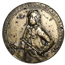 Great Britain, copper/silver-alloy Admiral Vernon medal, 1739, Porto Bello, Vernon alone, ex-Adams.