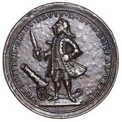 Great Britain, cast small-size copper-alloy Admiral Vernon medal, 1739, Porto Bello, Vernon and icon
