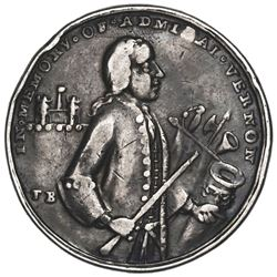 Great Britain, medium-size silver Admiral Vernon medal, 1739, Porto Bello, Vernon and icons, very ra