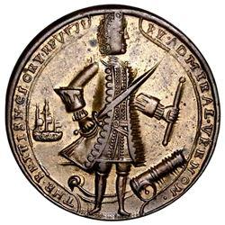 Great Britain, small-size copper-alloy Admiral Vernon medal, 1739, Porto Bello, Vernon and icons, ex