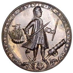 Great Britain, copper-alloy Admiral Vernon medal, 1739, Porto Bello, Vernon and icons, ex-Adams (Pla