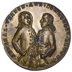 Great Britain, copper-alloy Admiral Vernon medal, 1739, Porto Bello, Vernon and Brown, ex-Adams.
