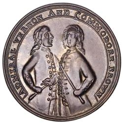 Great Britain, copper-alloy Admiral Vernon medal, 1739, Porto Bello, Vernon and Brown, ex-Adams.