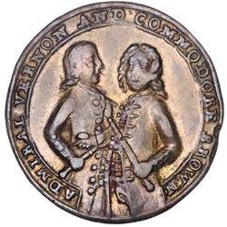 Great Britain, small-size copper-alloy Admiral Vernon medal, 1739, Porto Bello, Vernon and Brown, ex
