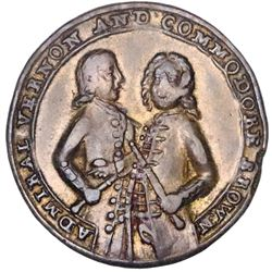 Great Britain, small-size copper-alloy Admiral Vernon medal, 1739, Porto Bello, Vernon and Brown, ex