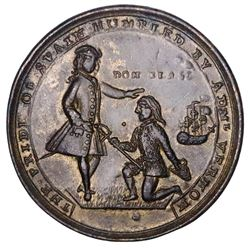 Great Britain, medium-size copper-alloy Admiral Vernon medal, 1739, Porto Bello, Vernon and Lezo, ex