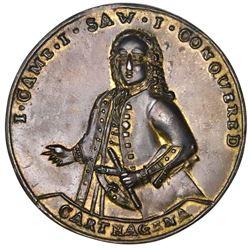 Great Britain, copper-alloy Admiral Vernon medal, 1741, Cartagena, ex-Adams.