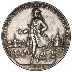 Great Britain, silver Admiral Vernon medal, 1741, Cartagena, ex-Adams.