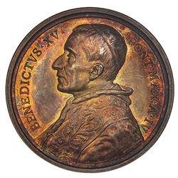 Vatican City (Italian States), silver medal, Benedetto XV (Giacomo della Chiesa), Rome Year IV (1918