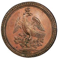 Toluca, Mexico, bronze proclamation medal, Iturbide, 1822, PCGS AU58.