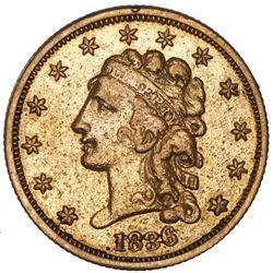 USA (Philadelphia Mint), Classic Head $2-1/2, 1836, block 8, NGC XF details / removed from jewelry.