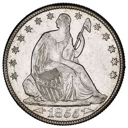 USA (New Orleans Mint), Seated Liberty 50 cents, 1855-O, arrows, ex-Tuscaloosa Hoard (Civil War era)